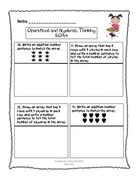 Common Core End-of-Year Math Assessment for Second Grade