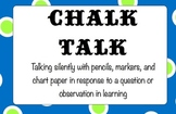 Common Core EngageNY Protocol Mini-Poster....Chalk-Talk