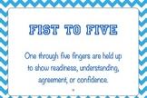 Common Core EngageNY Protocol Mini-Poster....Fist to Five