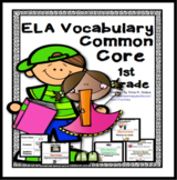 ELA Academic Focused Vocabulary Word Wall for First Grade