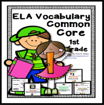 ELA Vocabulary Word Wall for First Grade