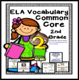 ELA Academic Focused Vocabulary Word Wall for Second Grade