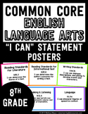 Common Core English Language Arts I CAN Posters - 8th (Eig