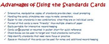 Common Core English Language Arts Planning Cards Grade 3