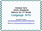Common Core English Language Arts Rubrics for 3rd Grade