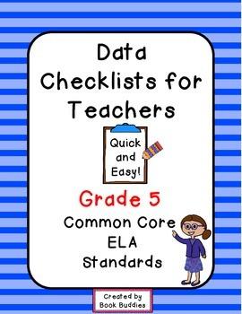Common Core Data Checklists Grade 5 Teachers
