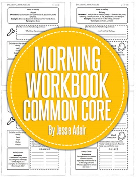Common Core Morning Workbook For ELA