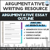 Common Core English Regents Argumentative Essay Outline