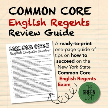 Common Core English Regents Exam Review Guide
