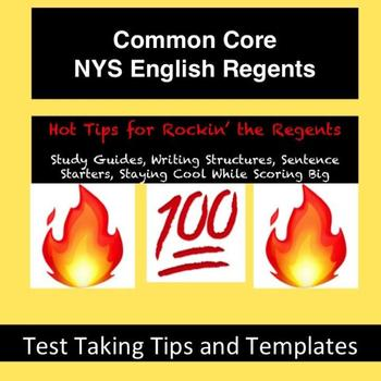 Common Core English Regents (NYS) Study Guide and Hot Tips Packet