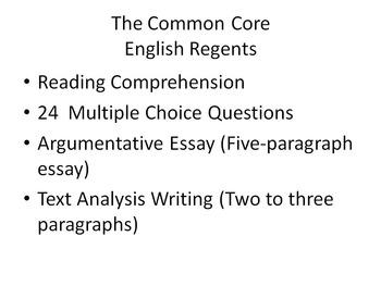 Common Core English Regents PowerPoint Preparation