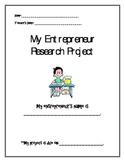 Common Core Entrepreneur Research Project Economy Unit