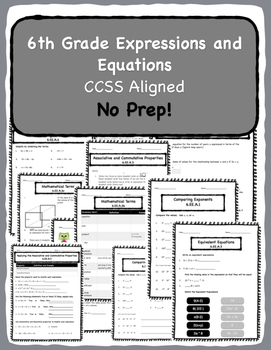 Common Core Equations and Expressions Pack