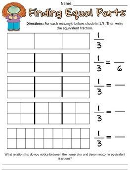 Common Core: Equivalent Fraction Practice