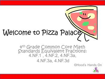Common Core Equivalent Fractions Pizzas