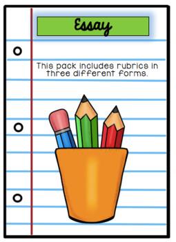 Common Core Essay Rubrics: 3rd Grade