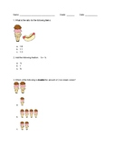 Common Core Essential Element questions for 7th grade Math (low range)
