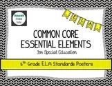Common Core Essential Elements 5th Grade E.L.A Posters