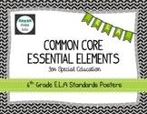 Common Core Essential Elements 6th Grade E.L.A Posters