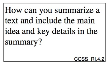 Common Core Essential Questions - 4th Grade ELA
