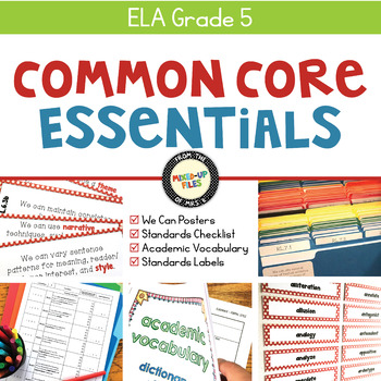 Common Core Essentials 5th Grade ELA Bundle