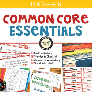 Common Core Essentials 8th Grade ELA Bundle