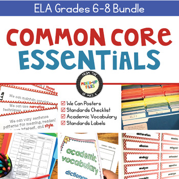 Common Core Essentials ELA Grades 6 - 8 Bundle