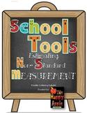 "1st Grade Common Core, Nonstandard Unit Measurement & Ordering: ""School Tools"""