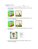 Common Core Examen De Lectura Kinder