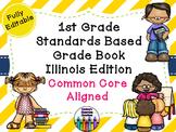 Common Core Excel Grade Book - Illinois Edition - 1st Grade!