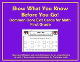 Common Core Exit Cards for Math - First Grade