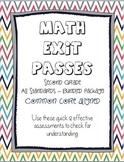 Common Core Exit Passes ~ Second Grade Math ~ Bundled Package