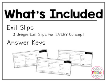 Common Core Exit Slips: Fourth Grade Addition & Subtraction
