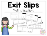 Common Core Exit Slips: Multiplication