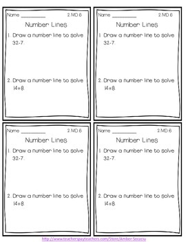 Common Core Exit Slips/Quick Checks for 2nd Grade Measurement