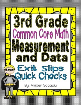 Common Core Exit Slips/Quick Checks for 3rd Grade Measurement and Data