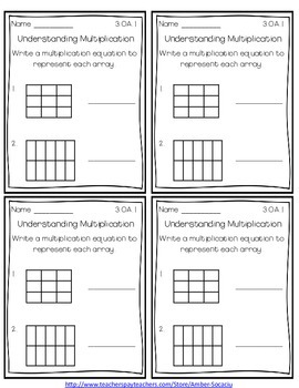 Common Core Exit Slips/Quick Checks for 3rd Grade Operations and Alegebra