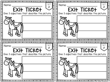 Common Core Exit Tickets: ELA SAMPLE
