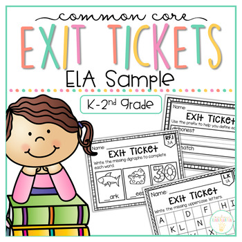 Common Core Exit Tickets: ELA SAMPLE
