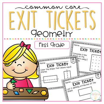 Common Core Exit Tickets: First Grade Geometry