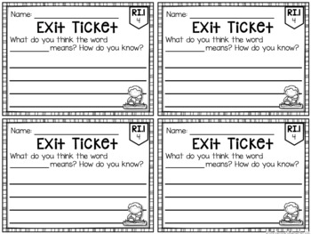 Common Core Exit Tickets: First Grade Informational Text