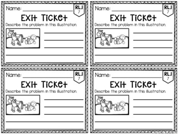Common Core Exit Tickets: First Grade Literature