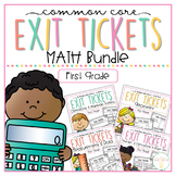 Common Core Exit Tickets: First Grade Math Bundle