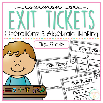 Common Core Exit Tickets: First Grade Operations and Algeb
