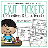 Common Core Exit Tickets: Kindergarten Counting and Cardinality
