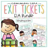 Common Core Exit Tickets: Kindergarten ELA Bundle