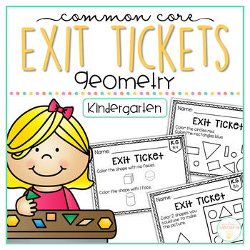 Common Core Exit Tickets: Kindergarten Geometry