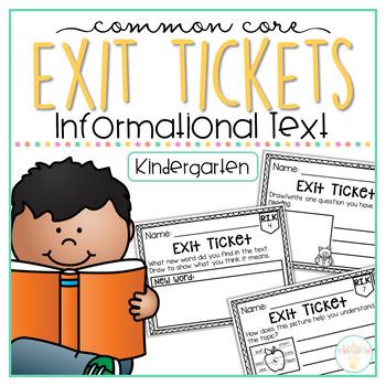 Common Core Exit Tickets: Kindergarten Informational Text