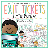 Common Core Exit Tickets: Kindergarten Math Bundle