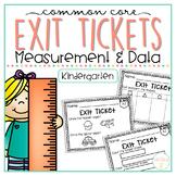Common Core Exit Tickets: Kindergarten Measurement & Data